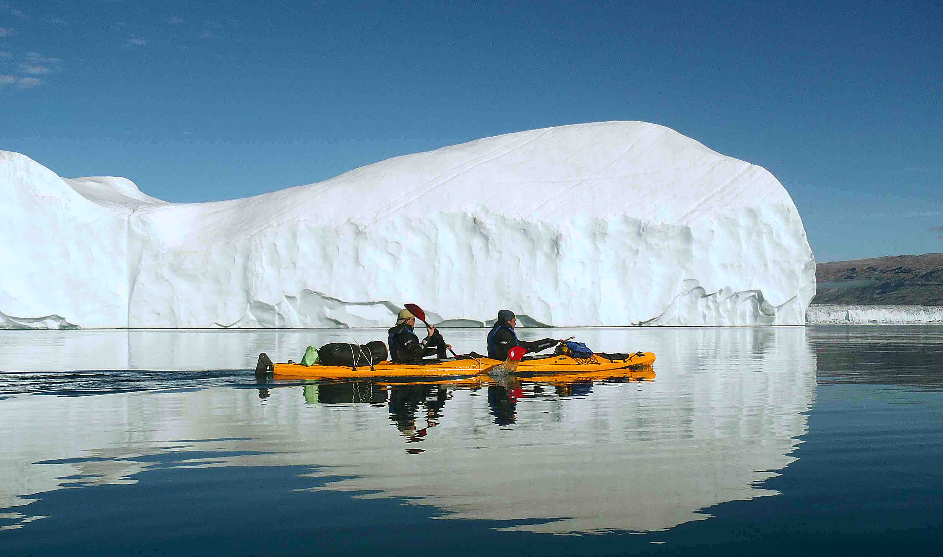 Ikayaking excursion among icebergs