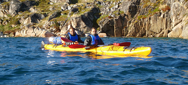 kayaking in the tasermiut fjord