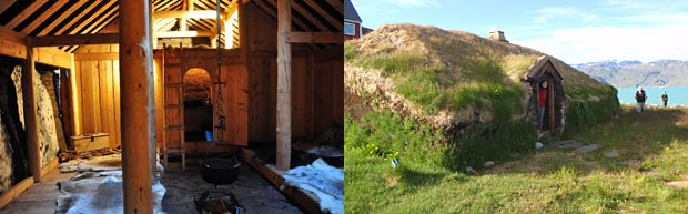 Greenland mountain bike tour. Viking vestiges