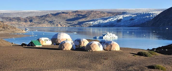greenland adventure tours, camp